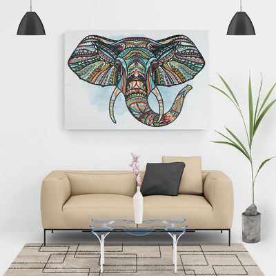 Mit Perlen - Der Elefant - Diamond-Painting