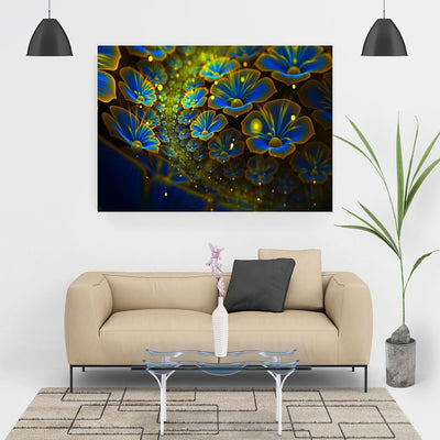 Diamond Painting - Blaue Blumen - SALE