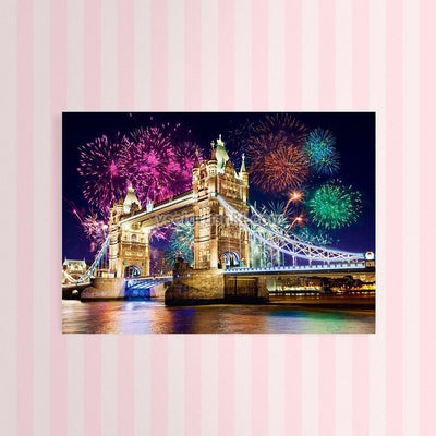 Diamond Painting - Tower Bridge am Silvesterabend London