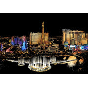 Scratch Painting - Las Vegas - in Farbe