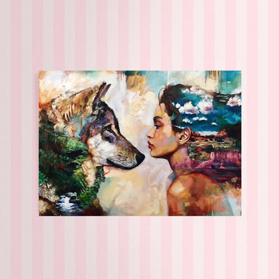 Diamond Painting - Wolf & Frau