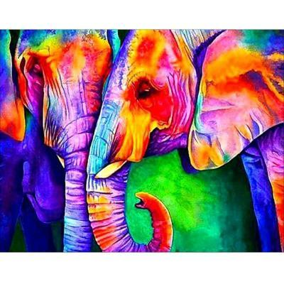 Diamond Painting - Neon elefant