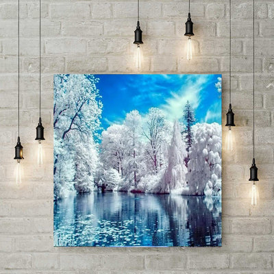 Diamond Painting - Winterlandschaft