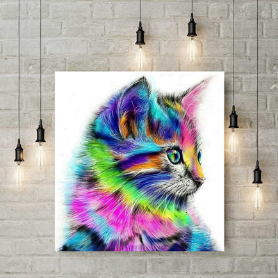 Diamond Painting - Bunte Katze