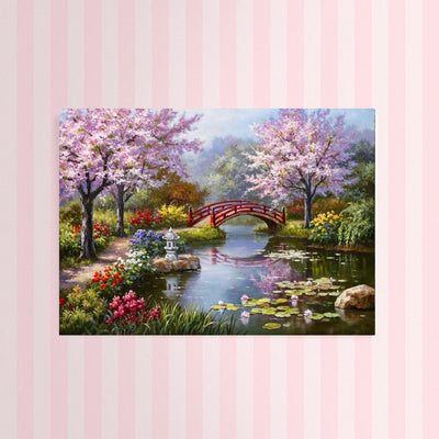 XXL - Diamond Painting - Frühling am Fluss