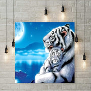 Diamond Painting - Tiger mit Baby