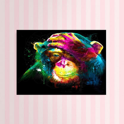 Diamond Painting - Neon Monkey