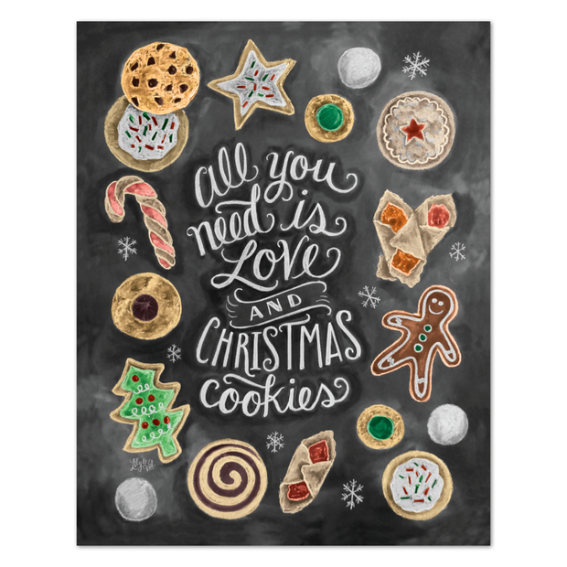 Diamond Painting - ALLES, WAS SIE BRAUCHEN SIND LOVE & CHRISTMAS COOKIES