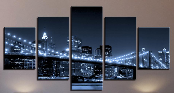 Diamond Painting - Multi-Bild New York Bridge