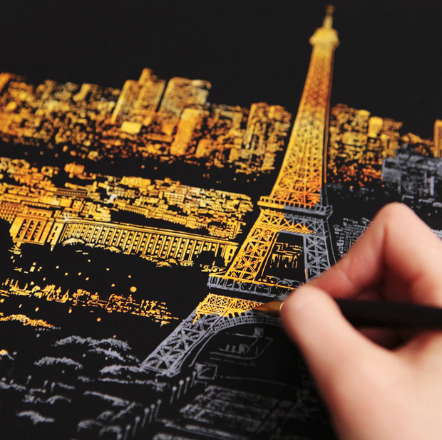 Scratch Painting - Paris