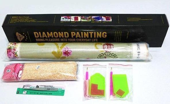 Diamond Painting - Dame In Rot