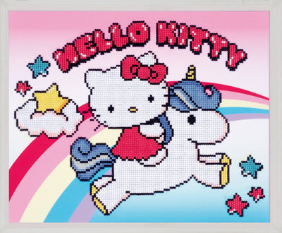 Diamond Painting Teilbild - Hello Kitty mit Einhorn - 37x30 cm