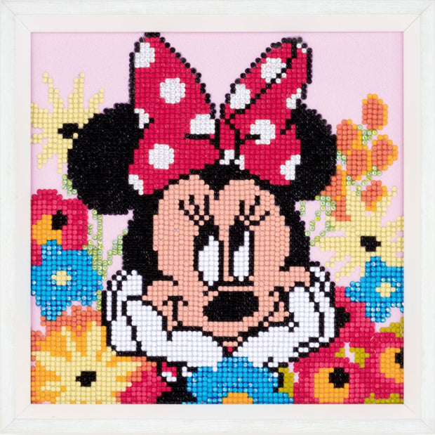 Diamond Painting Teilbild - Disney Minnie Maus Tagträumerin