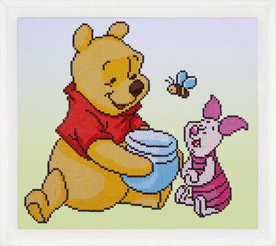 Diamond Painting Teilbild - Disney Winnie Puuh mit Ferkel
