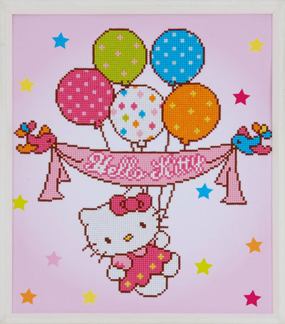 Diamond Painting - Hello Kitty mit Luftballons