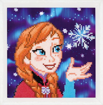 Diamond Painting Disney Teilbild - Eiskönigin Anna - 22x22 cm