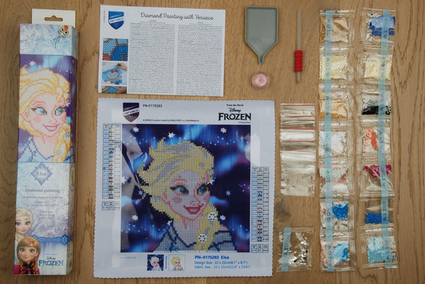 Diamond Painting Disney Teilbild - Eiskönigin Elsa - 22x22 cm