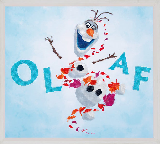 Diamond Painting Teilbild - Disney Olaf - Die Eiskönigin - 47x42cm