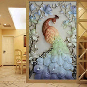 AUS DEM VIDEO: XXL DIAMOND PAINTING - Goldener Pfau