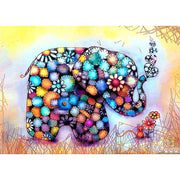 Diamond Painting - Bunter Elefant