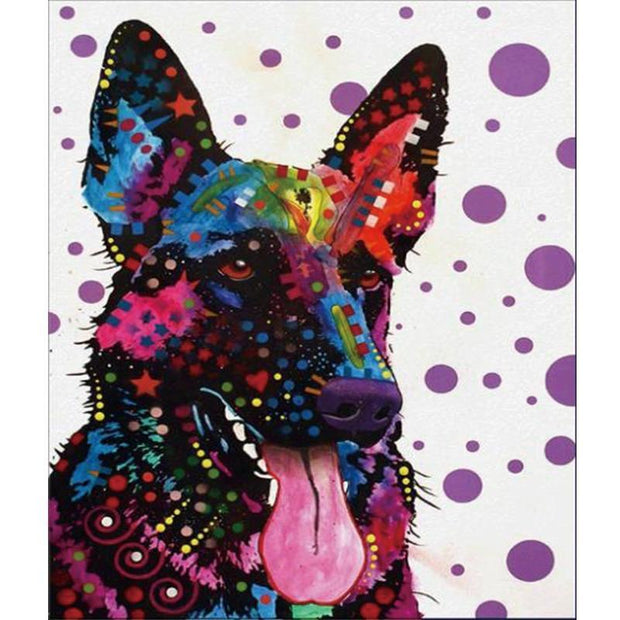 Diamond Painting - Neon Dog