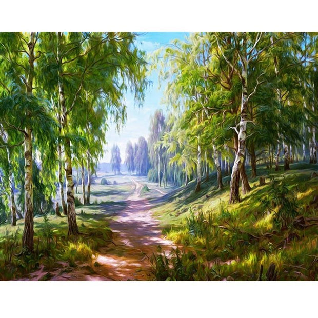 XXL - Diamond Painting - Birkenwald