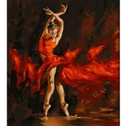 Diamond Painting - Ballerina In Red