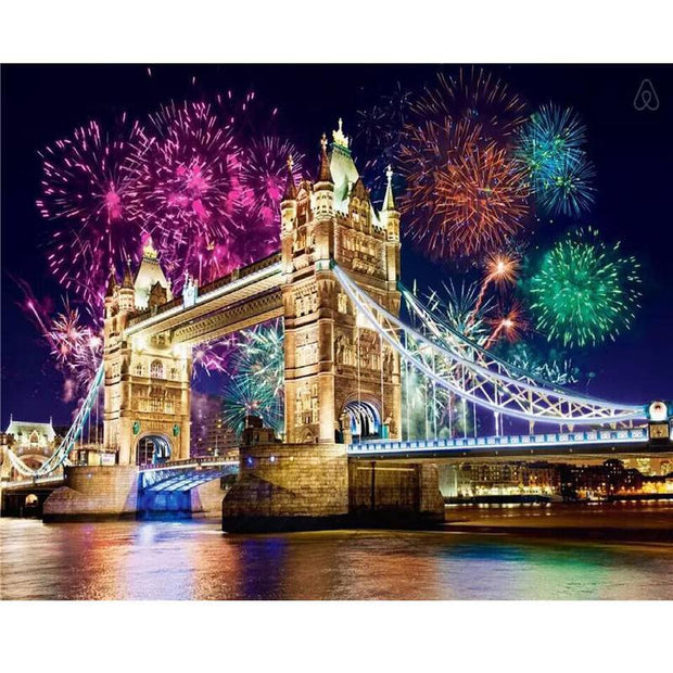 XXL - Diamond Painting - Tower Bridge am Silvesterabend