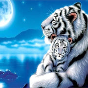 XXL - Diamond Painting - Tiger mit Baby
