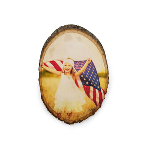 Large Oval Wood Photo Print
