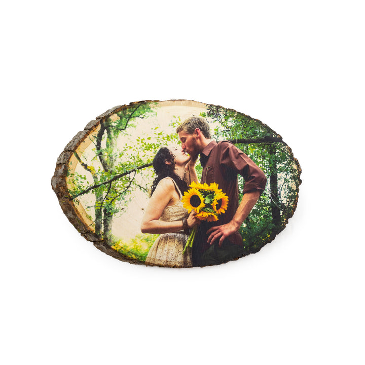 Oval Wood Photo Print
