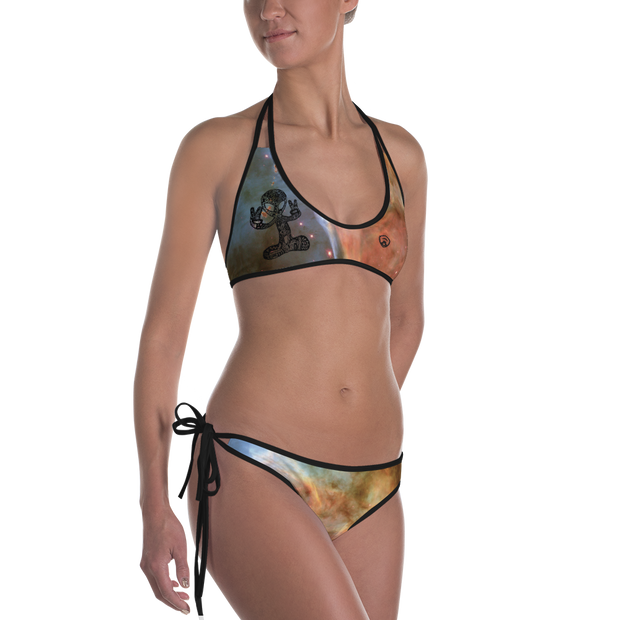 Alien & Rose Reversible Bikini Bathing Suit