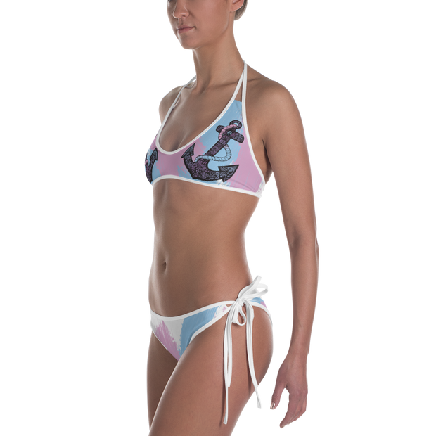 Anchor & Pineapple Reversible Bathing Suit