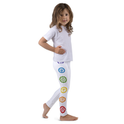 Kids- Chakra Leggings (White)