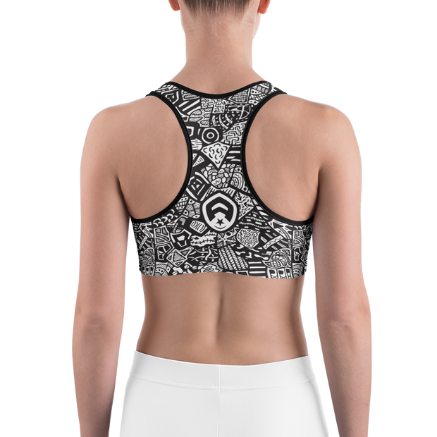 All Over Doodle Sports Bra