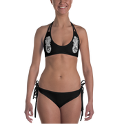 White Pineapple & Galaxy Reversible Bathing Suit