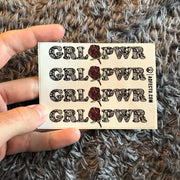 Sticker- GRL PWR (White)
