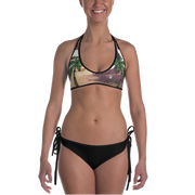 Palm Tree & Sunflower Reversible Bathing Suit