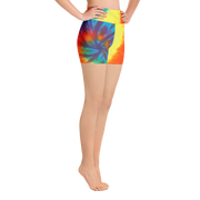 Rainbow Tye Dye Yoga Shorts