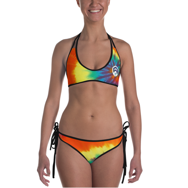 Buddha & Rainbow Tie Dye Reversible Bathing Suit