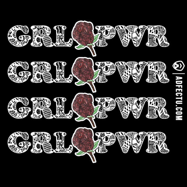Sticker- GRL PWR (Black)