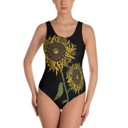 Sunflower One Piece Bathing Suit