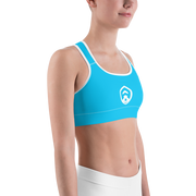 Simple Light Blue Sports Bra