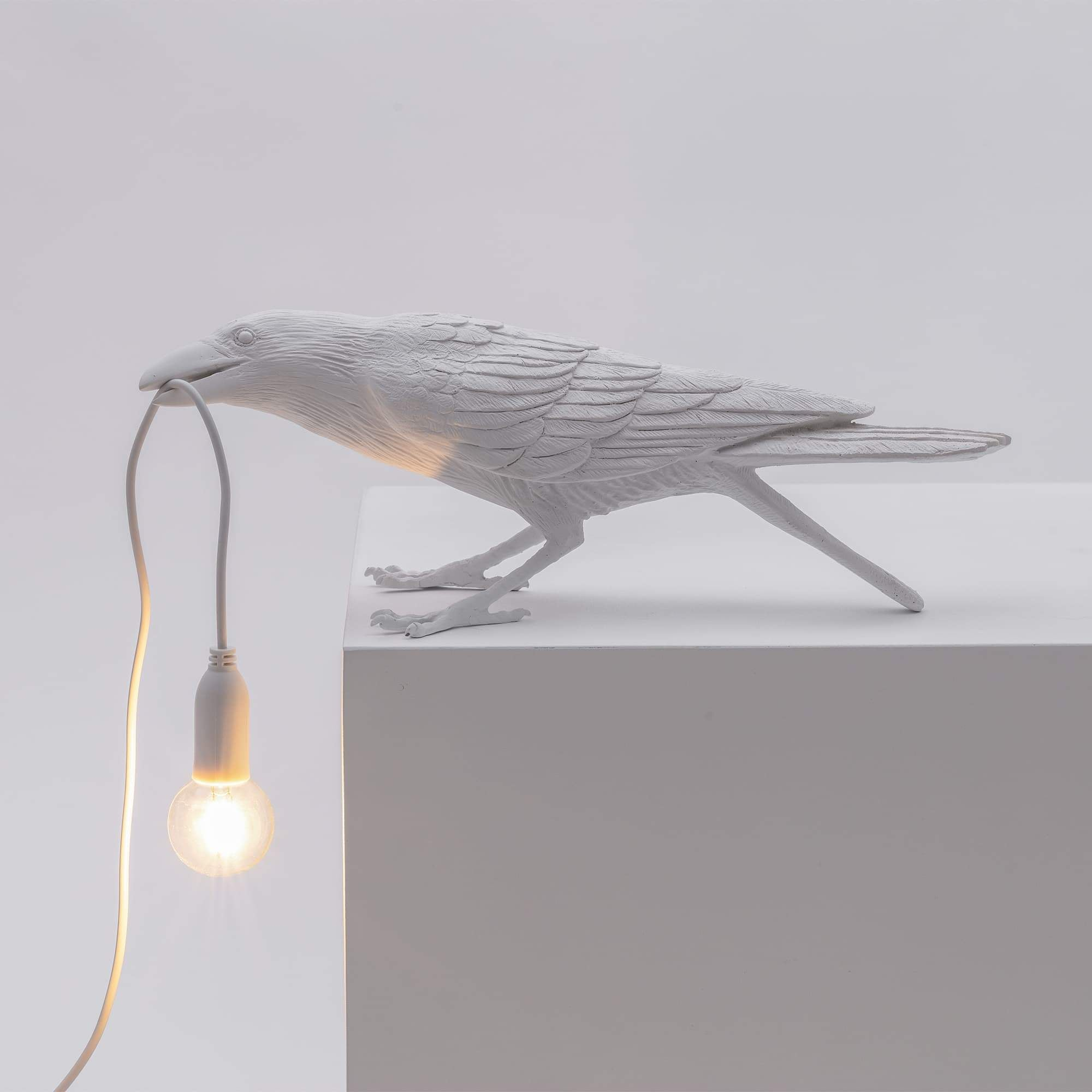 Bird Lamp Playing Outdoor / White Seletti Seletti