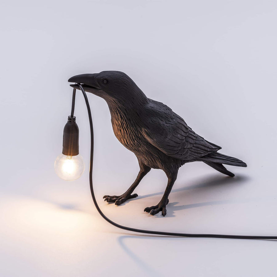 Bird Lamp Waiting / Black
