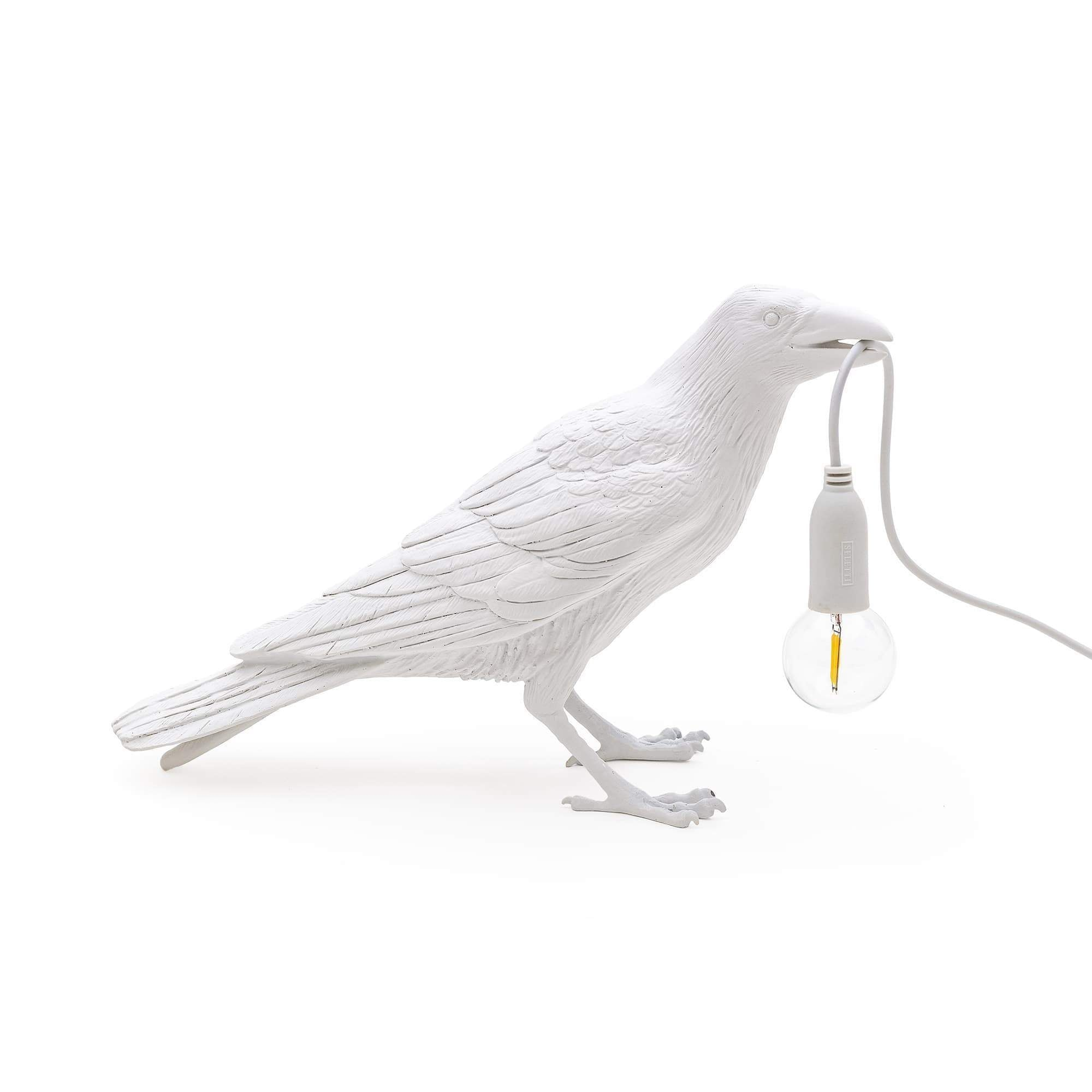 Bird Lamp Waiting Outdoor / White Seletti Seletti
