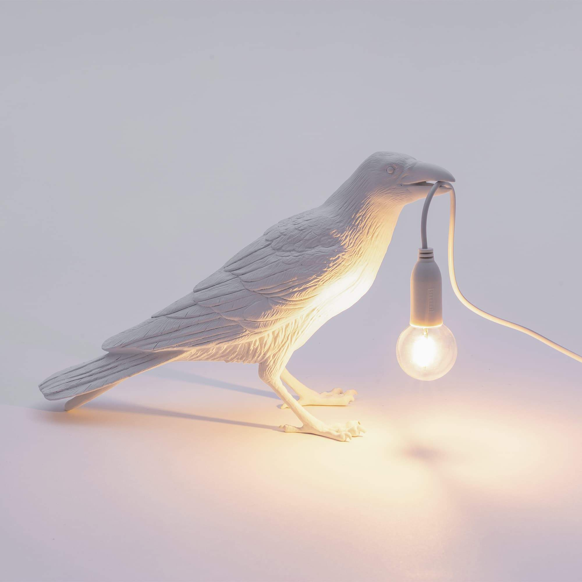 Bird Lamp Waiting / White Seletti Seletti