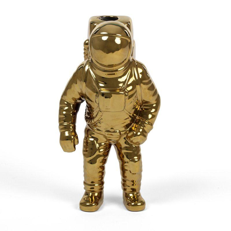 Cosmic Diner Starman Vase / Gold Seletti Diesel living with Seletti
