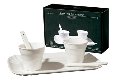 Estetico Quatidiano / Coffee Set 2 And Tray Seletti Seletti