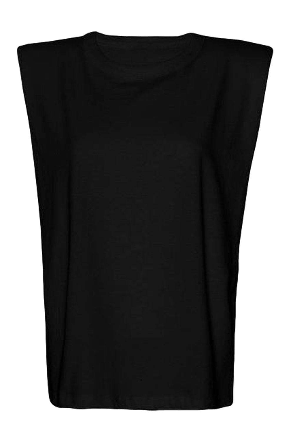 Eva Padded Shoulder Muscle T-shirt / Black General Frankie Shop